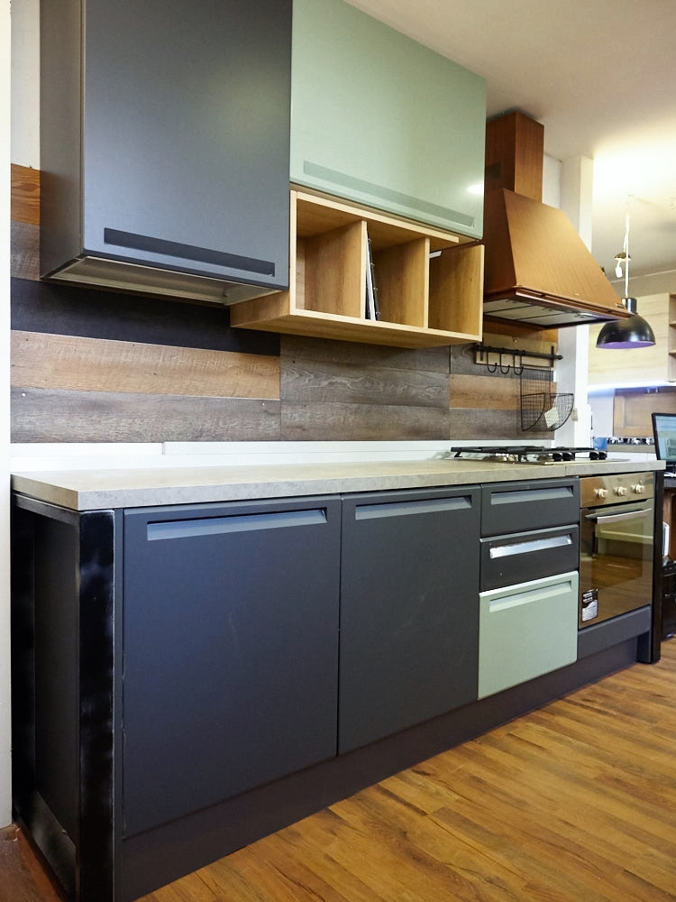 cucina industrial moderna con cappa rame franke in offerta outlet ...