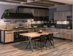 Cucina industriale altri colori Diotti.com ad angolo Sixty in Offerta Outlet
