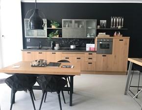 Cucina industriale altri colori Scavolini lineare Diesel social kitchen legno scontata
