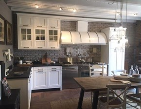 Cucina industriale bianca Marchi cucine ad angolo Kreola de. scontata