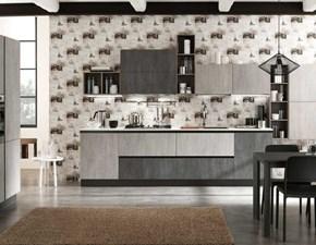 Cucina industriale grigio Artigianale lineare Asa arredamenti  in offerta