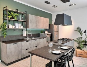 Cucina industriale grigio Scavolini ad isola Sax in Offerta Outlet