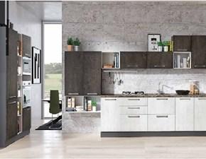 Cucina industriale lineare Nuovi mondi cucine Cucina ossido industrial in offerta con colonne  in offerta convenienza      a prezzo ribassato