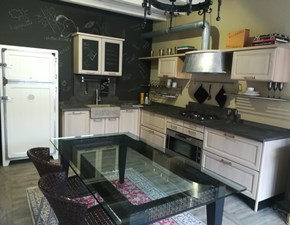 Cucina industriale mod. 1956 rovere chiaro Marchi cucine ad angolo  in offerta