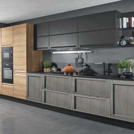 Cucina industriale moderna lineare in offerta convenienza for Cucina in offerta