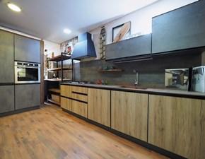 Cucina industriale noce Nuovi mondi cucine ad angolo Cucina moderna  industrial  cemento  metal in offerta