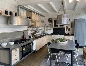 Cucina industriale rovere chiaro Marchi cucine ad angolo 1956 in offerta