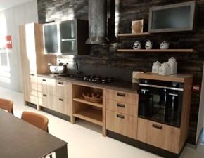 Cucina industriale rovere chiaro Scavolini lineare Diesel in Offerta Outlet