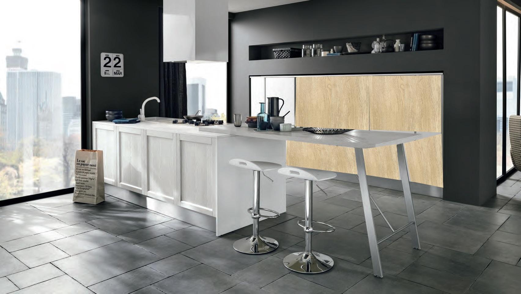 Cucina isola white in legno white dalila in offerta - Cucina in offerta ...