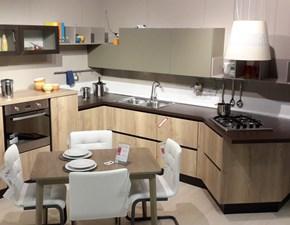 Cucina Kira moderna rovere chiaro ad angolo Lube cucine