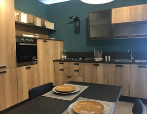 Cucina Kira vintage industriale rovere chiaro ad angolo Lube cucine
