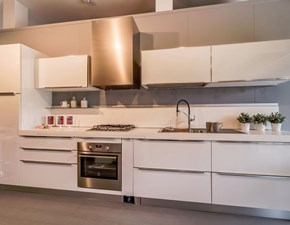 Cucina Klass moderna bianca lineare Dibiesse