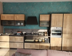 Cucina Kyra vintage industriale rovere chiaro lineare Creo kitchens