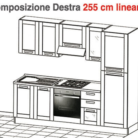 cucina cm lineari cucine a prezzi scontati. Black Bedroom Furniture Sets. Home Design Ideas