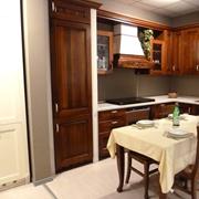 Composizione cucina angolare Astra mod. LA NOCE, in legno.