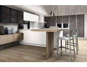 Cucina Lab moderna bianca lineare Atra