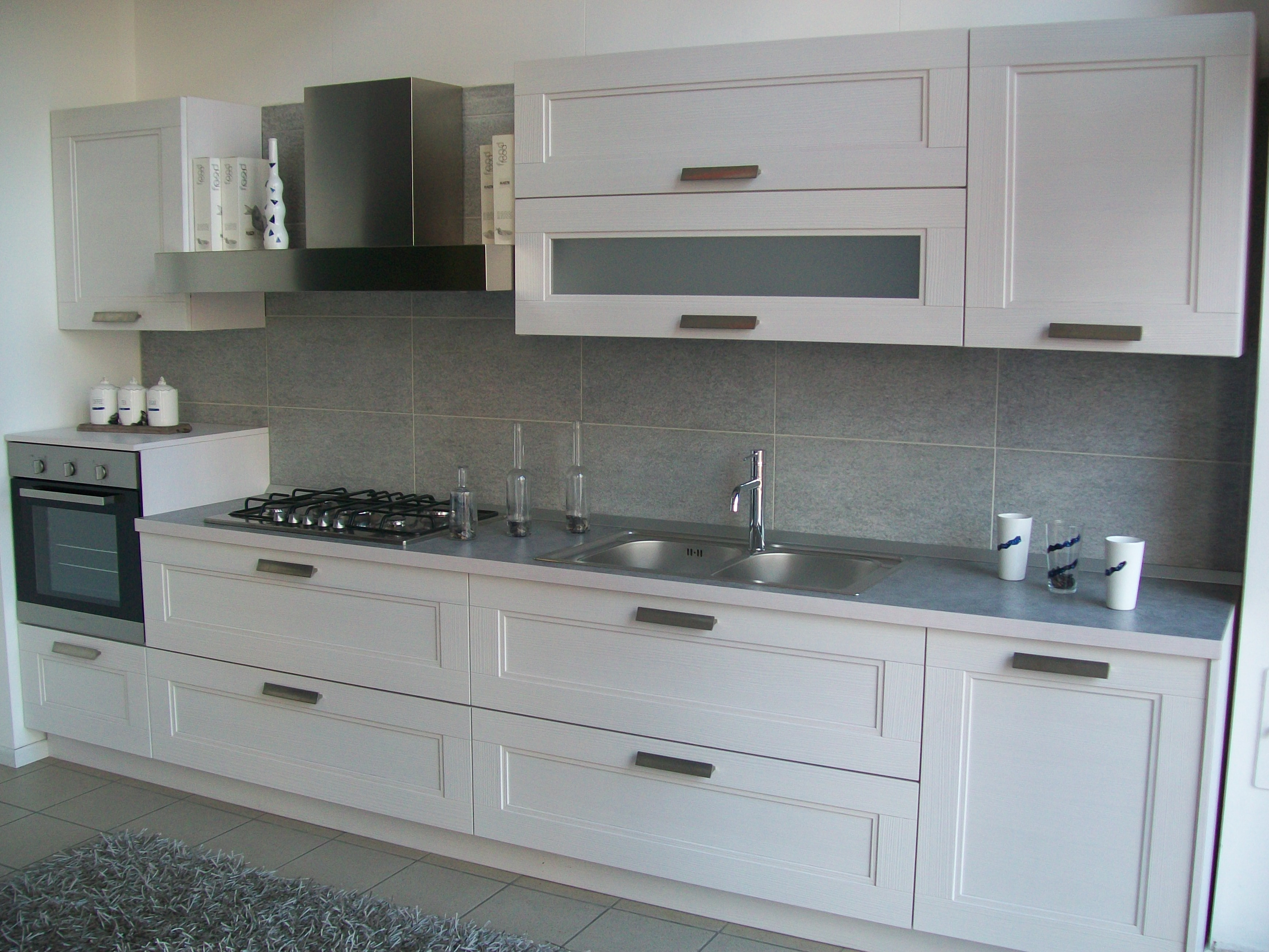 Cucine Moderne Bianche Laccate. Cucine Moderne Bianche E Nere Cucina ...