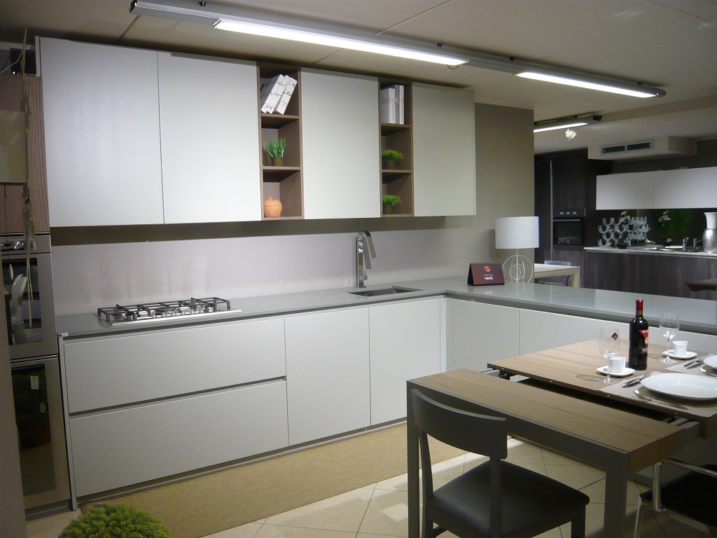 Cucina valdesign cucine cucina laccata grigia opaca piano - Piano cucina okite ...