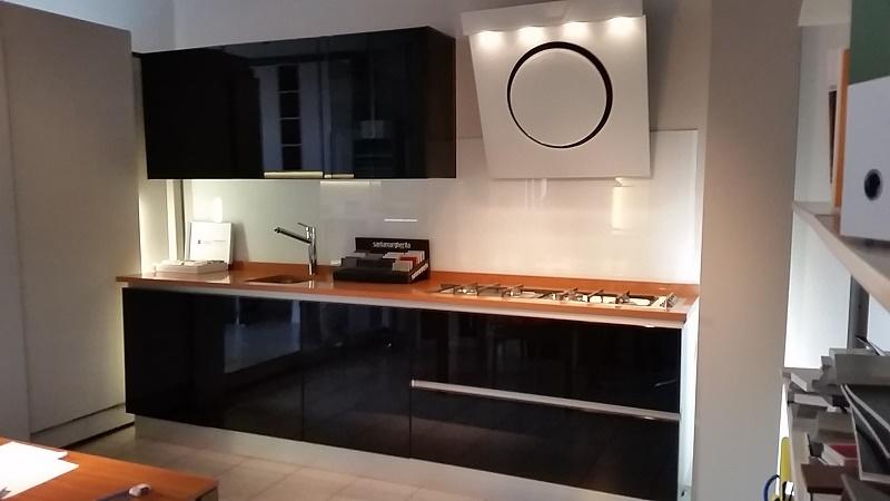 cucina laccato lucido nero - Cucine a prezzi scontati