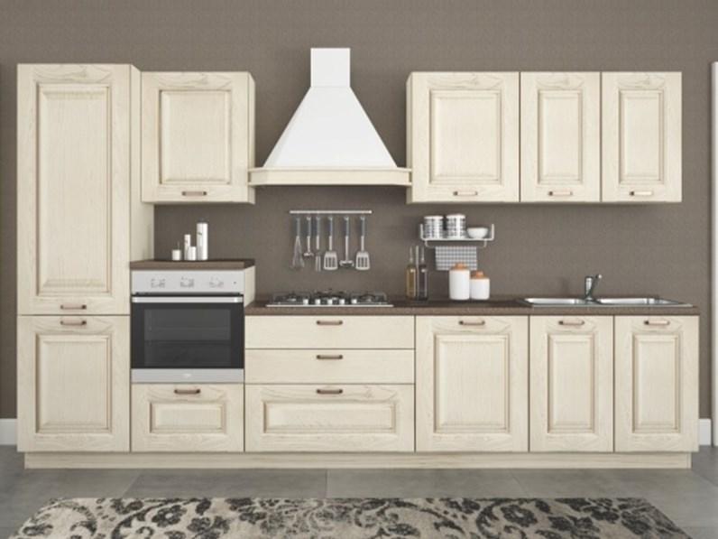 Cucina Lady Classica Bianca Lineare Artigianale
