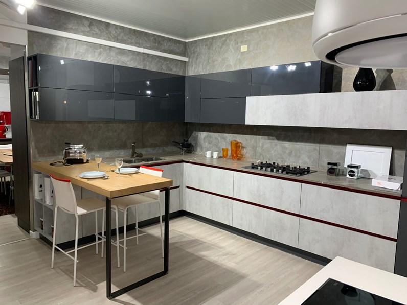 Cucina Lamina moderna grigio ad angolo Cucine noventa
