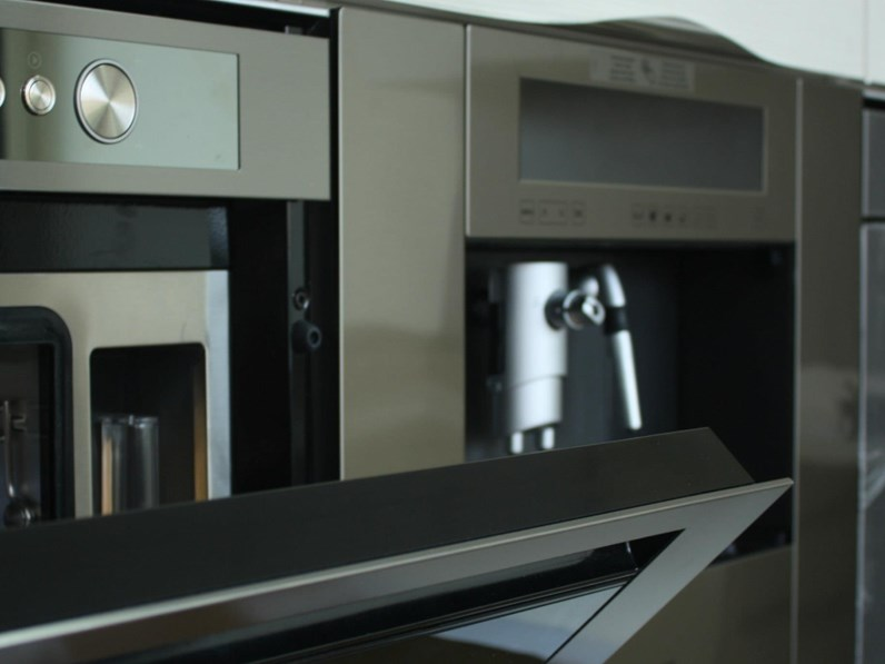 Cucina larice moderna ad angolo Samoa Copat cucine in Offerta Outlet