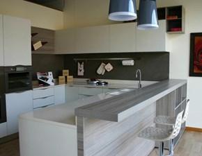 Cucina larice moderna ad angolo Samoa Copat cucine in Offerta Outlet