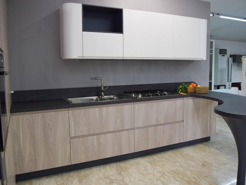 Cucina larice moderna con penisola 3a bring stosa cucine - Outlet cucine stosa ...
