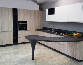 Cucina larice moderna con penisola 3a bring Stosa cucine in Offerta Outlet