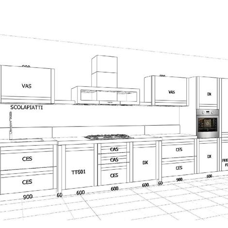 Cucina legno massello - Cucine a prezzi scontati