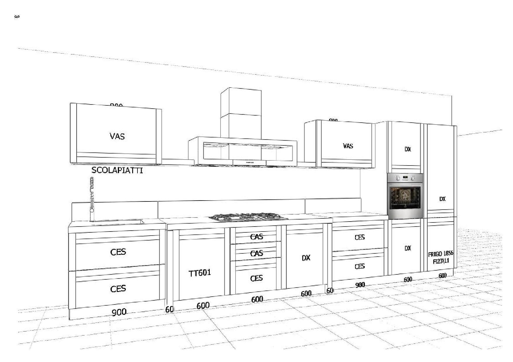 Misure mobili cucina cucina su misura in prodotta in abete massello da with misure mobili - Dimensione pensili cucina ...