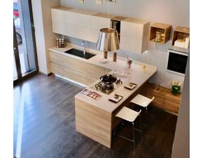 Cucina Liberamente moderna tortora con penisola Scavolini