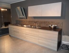 Cucina Light moderna lineare effetto legno ed ecomalta Modulnova