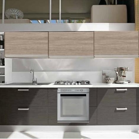 cucina linea moderna new beige e grigio essential con