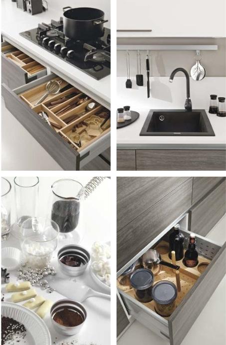 Cucina linear moderna colore seta grigia offerta for Cucina lineare offerta