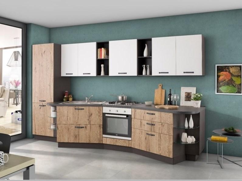 Cucine Moderne In Rovere Chiaro.Cucina Linear Moderna Rovere Chiaro Lineare Nuovi Mondi Cucine
