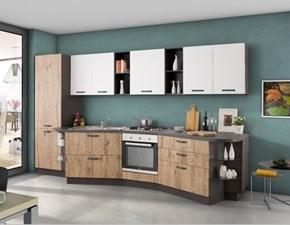 Cucina Linear  moderna rovere chiaro lineare Nuovi mondi cucine