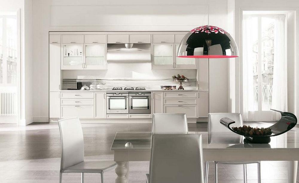 Cucina lineare aster cucine laccata bianca scontata del 57 - Cucina laccata bianca ...
