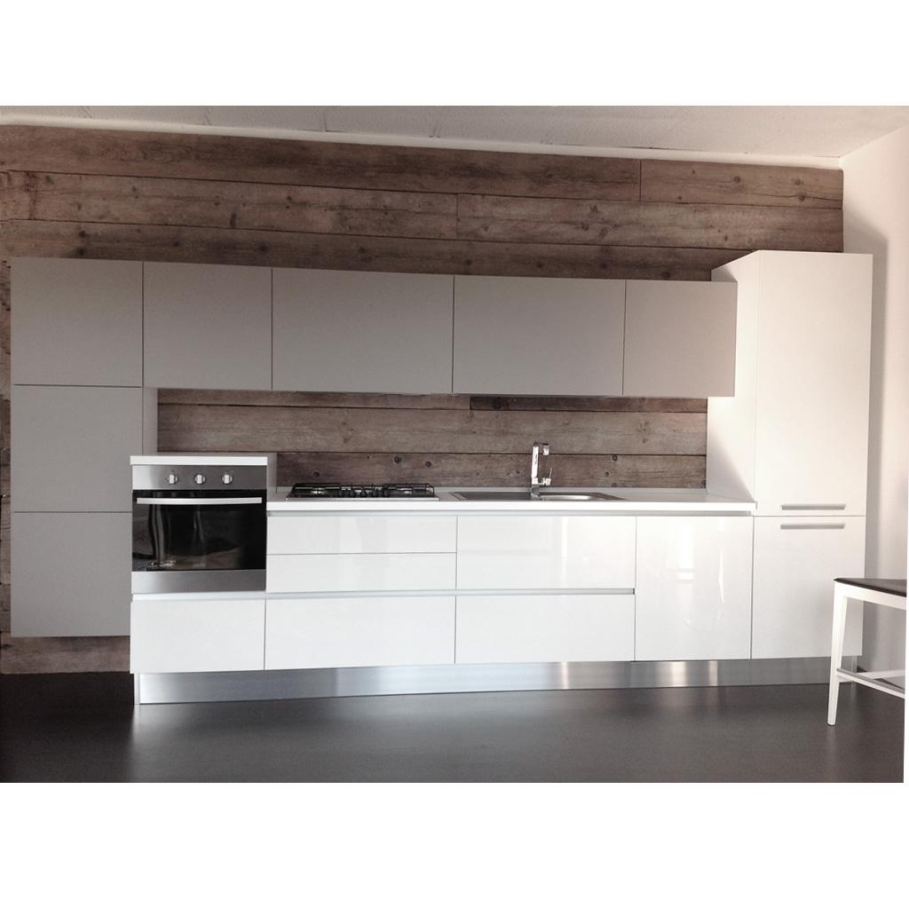Cucina Tortora E Bianca: Cucina lineare bianca con gola - cucine a ...