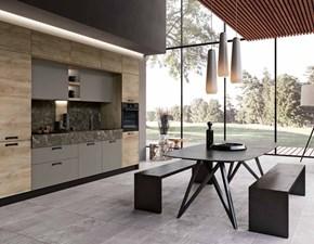 Cucina lineare Capri quercia e grigio cenere Imab group con uno sconto vantaggioso