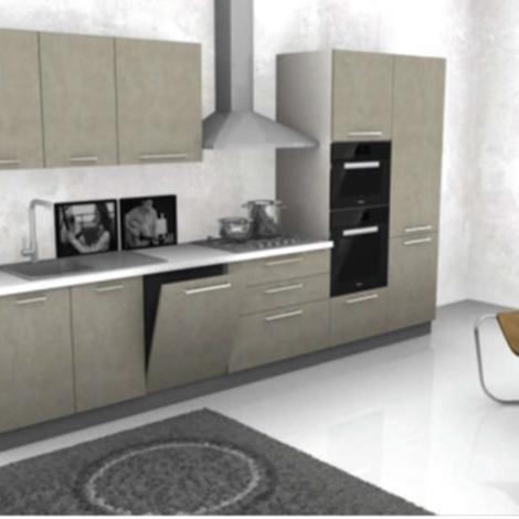 Cucina lineare cm 360 completa di elettrodomestici rex - Lunghezza cucina ...