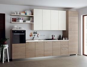 Cucina lineare color larice Urban & urban minimal a prezzo scontato