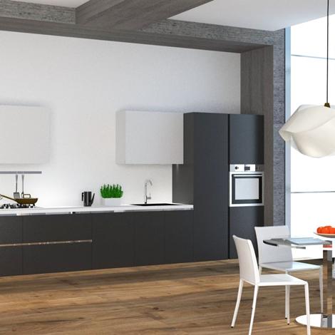 Cucina lineare con colonna frigo e colonna forno nuova a for Cucina nuova prezzi