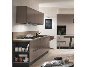 cucina bronzo moderna lineare