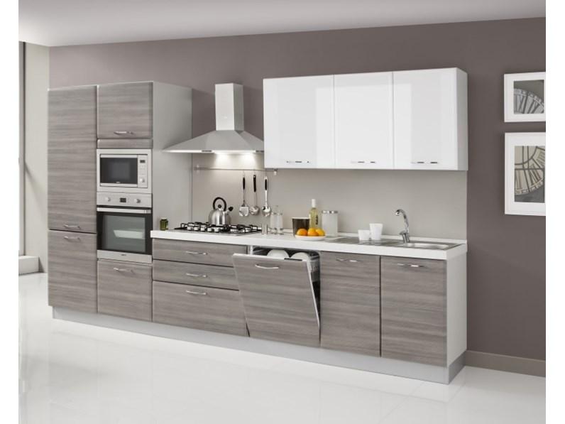 Cucina lineare con elettrodomestici fine produzione - Cucina con elettrodomestici ...