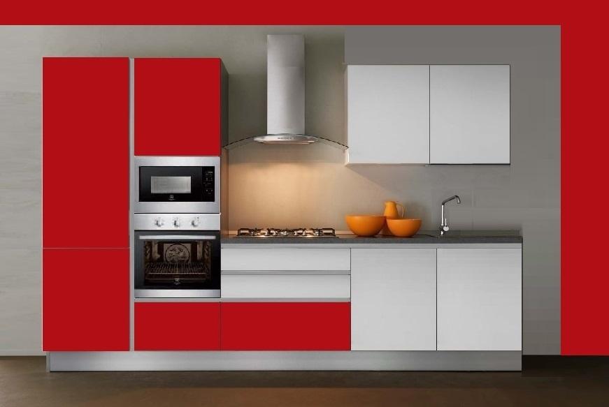 Cucina lineare con elettrodomestici rex cucine - Disposizione elettrodomestici cucina ...
