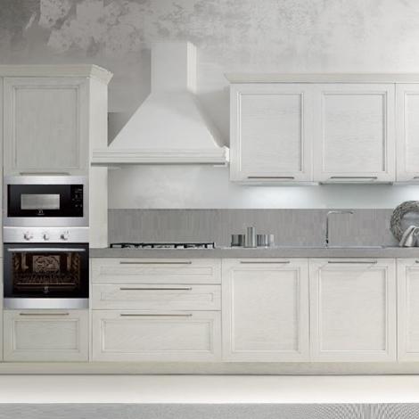 cucina lineare con elettrodomestici rex - cucine a prezzi scontati - Rex Cucine