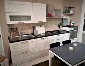 Cucina lineare country Iris Lube cucine a prezzo scontato