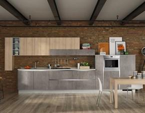 Cucina lineare Cucina cemento  moderna  industrial in offerta Nuovi mondi cucine con un ribasso del 58%