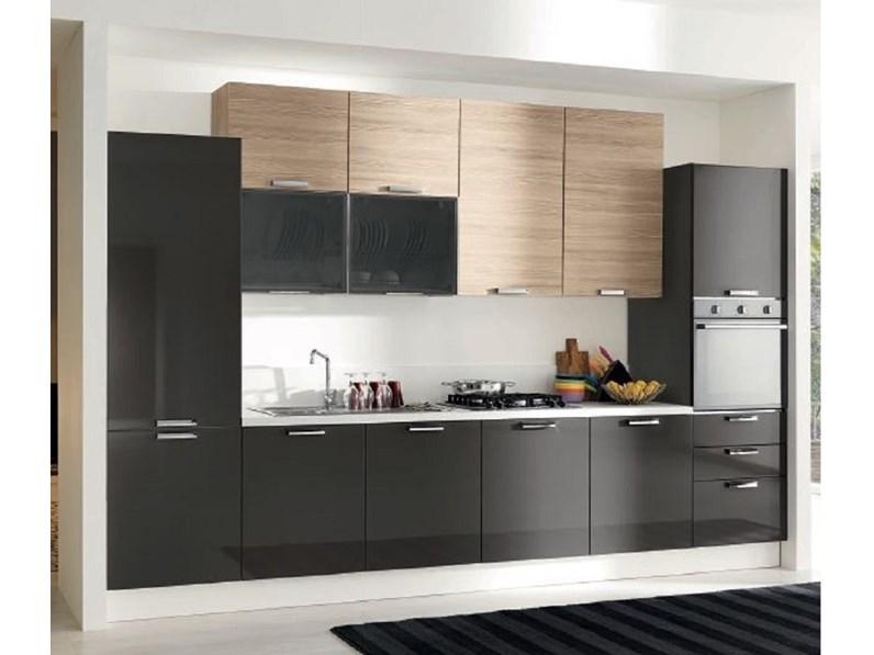 Cucina lineare Cucina-componibile mod.eva in promozionale Aran ...